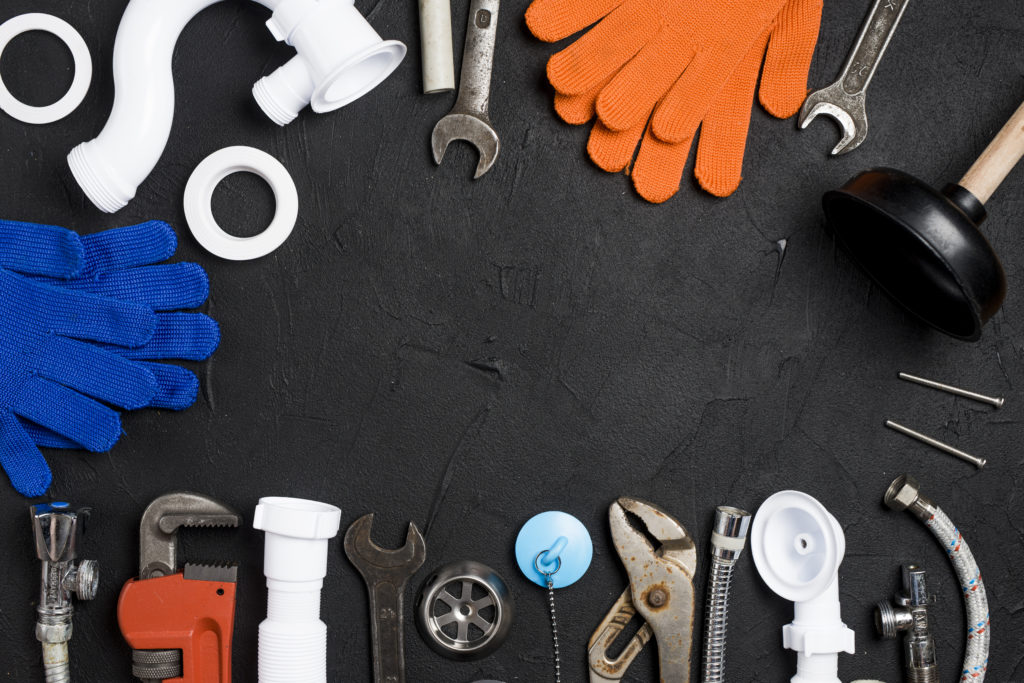 who makes the best plumbing tools - picture of plumbing tools on a table