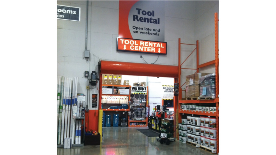 picture of tool rental area at home depot